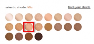 Dermablend Flawless Creator Foundation shade range on the Dermablend website