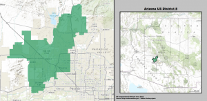 Real Women Talk 2 showing map of Arizona US Congressional District 8