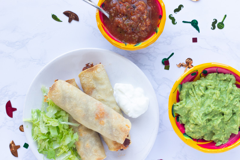 Cinco de Mayo Recipe- Baked Ground Beef Taquitos